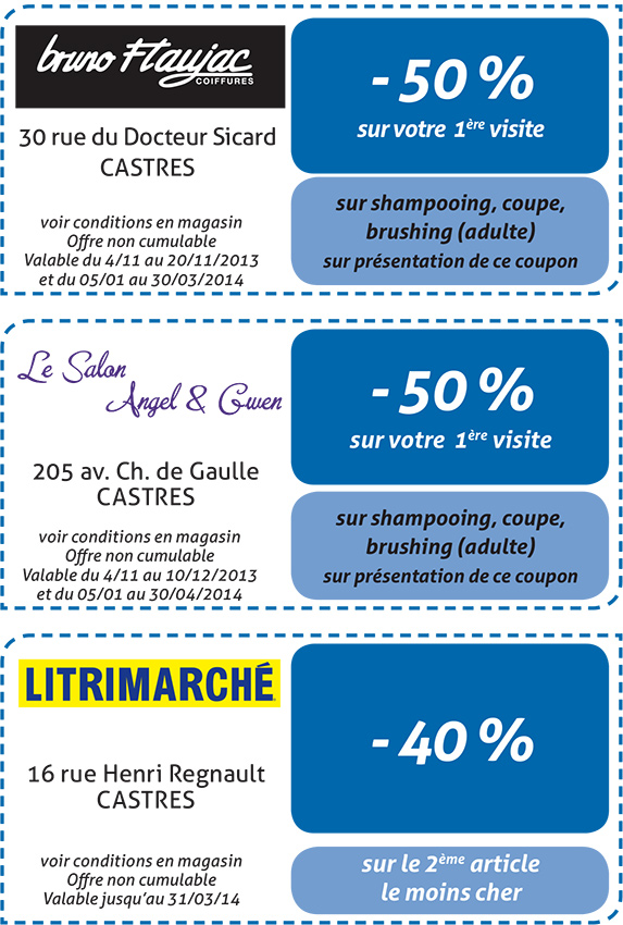 Coupons Castres 2013-2014