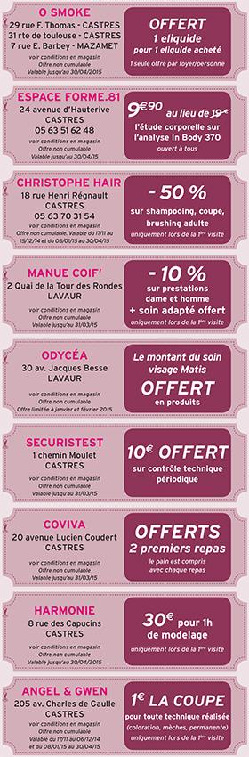 Les Coupons Castres Automne-Hiver 2014-2015
