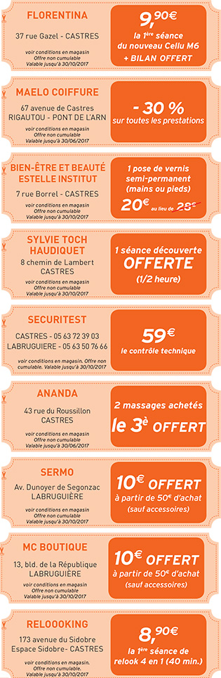 Castres-coupons