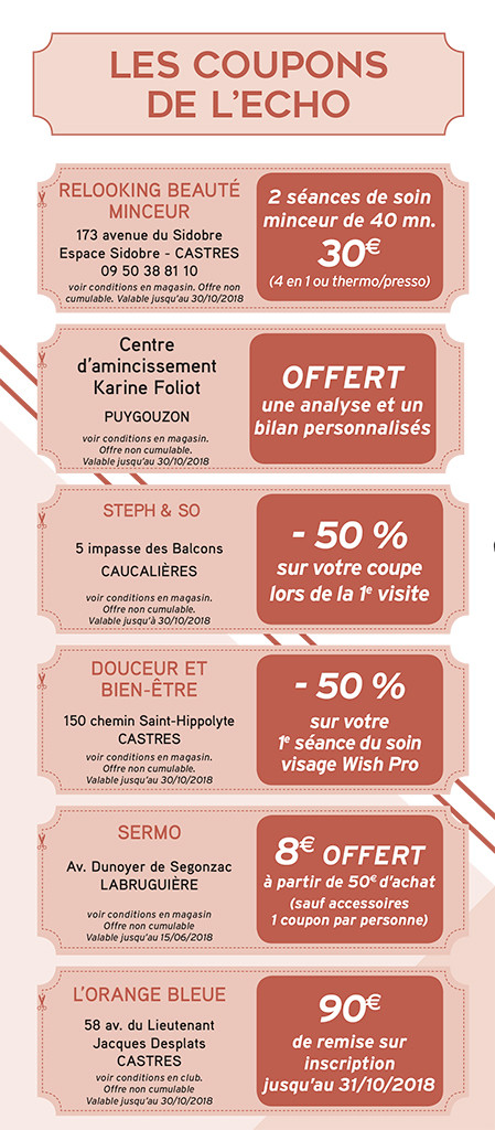 Castres Coupons 2018